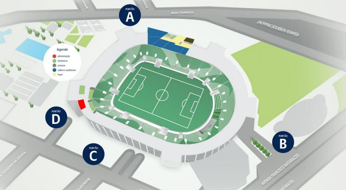 რუკა Allianz Parque - Level 1